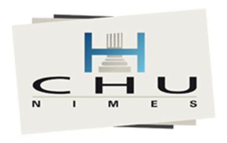 LOGO CHU de Nîmes - Nos partenaires Ange Gardien services à la personne